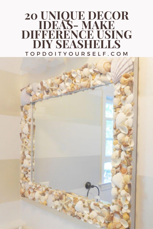 20 Unique Decor Ideas Make Difference Using Diy Seashells Top Diy Ideas Seashell Bathroom Decor Seashell Bathroom Modern Bathroom Design