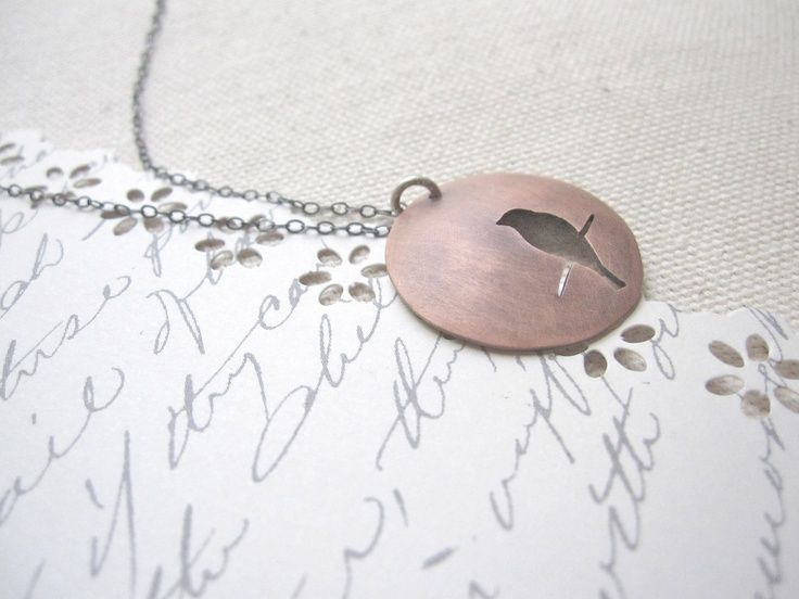 Silver dove necklaces dove necklace copper and sterling silver by silver dove necklaces dove necklace copper and sterling silver by dannikellidesigns 3500 aloadofball Images