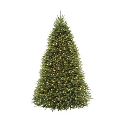 Home Accents Holiday 10 Ft Dunhill Fir Led Pre Lit Artificial Christmas Tree With 1200 White Mini Lights Duh3 100lo S The Home Depot Pre Lit Christmas Tree Christmas Tree Clear Lights Artificial Christmas