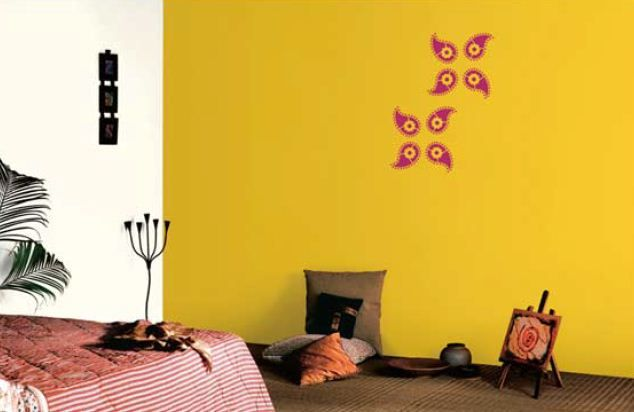 Yellow Wall Asian Paints House Painting