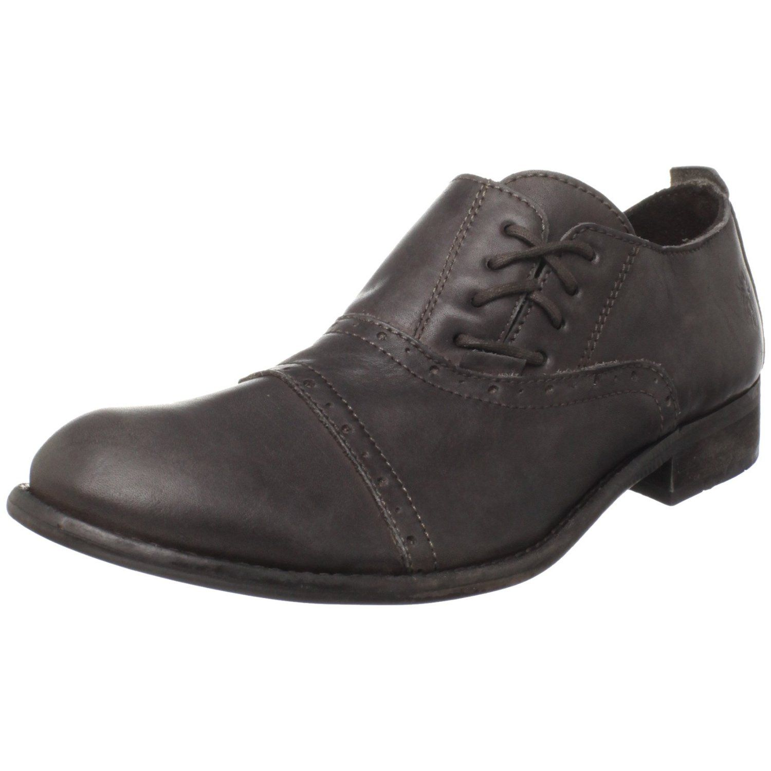 Designers Fly London Murt Fly Leather Oxford Black For Men Online