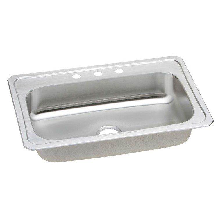 Gourmet Celebrity 33 Single Bowl Stainless Steel Drop In Kitchen