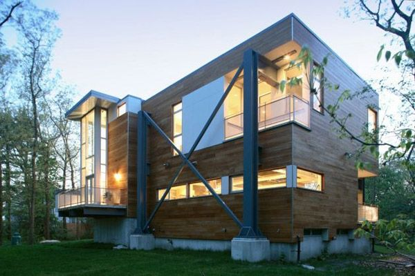 Metallic Structure Houses Designs Plans And Pictures Industrial House Architecture Modern Architecture Design