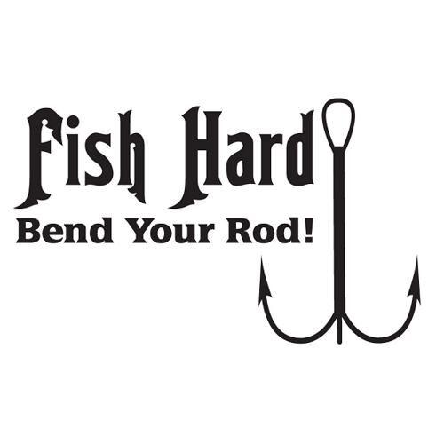 Fish Stickers Decals Inch Fish Hard Bend Your Rod With