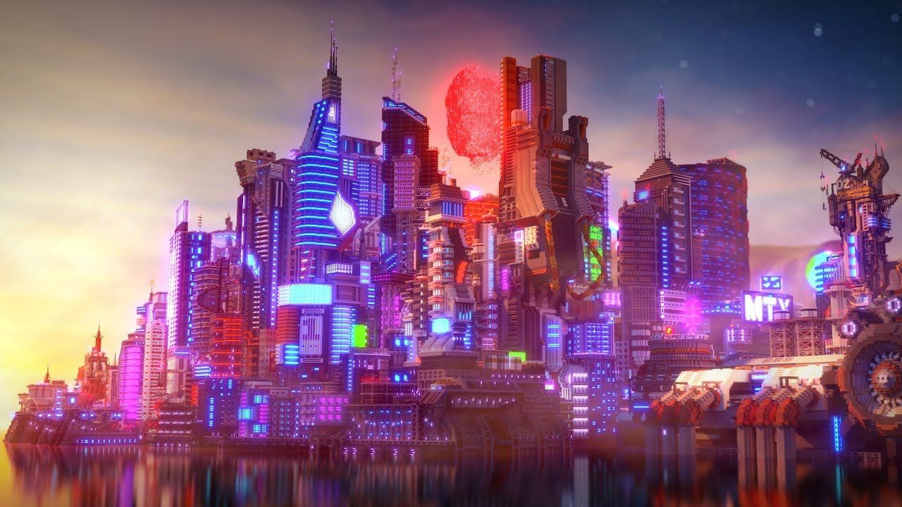 4k Cyberpunk Project Minecraft Timelapse By Elysium Fire Download