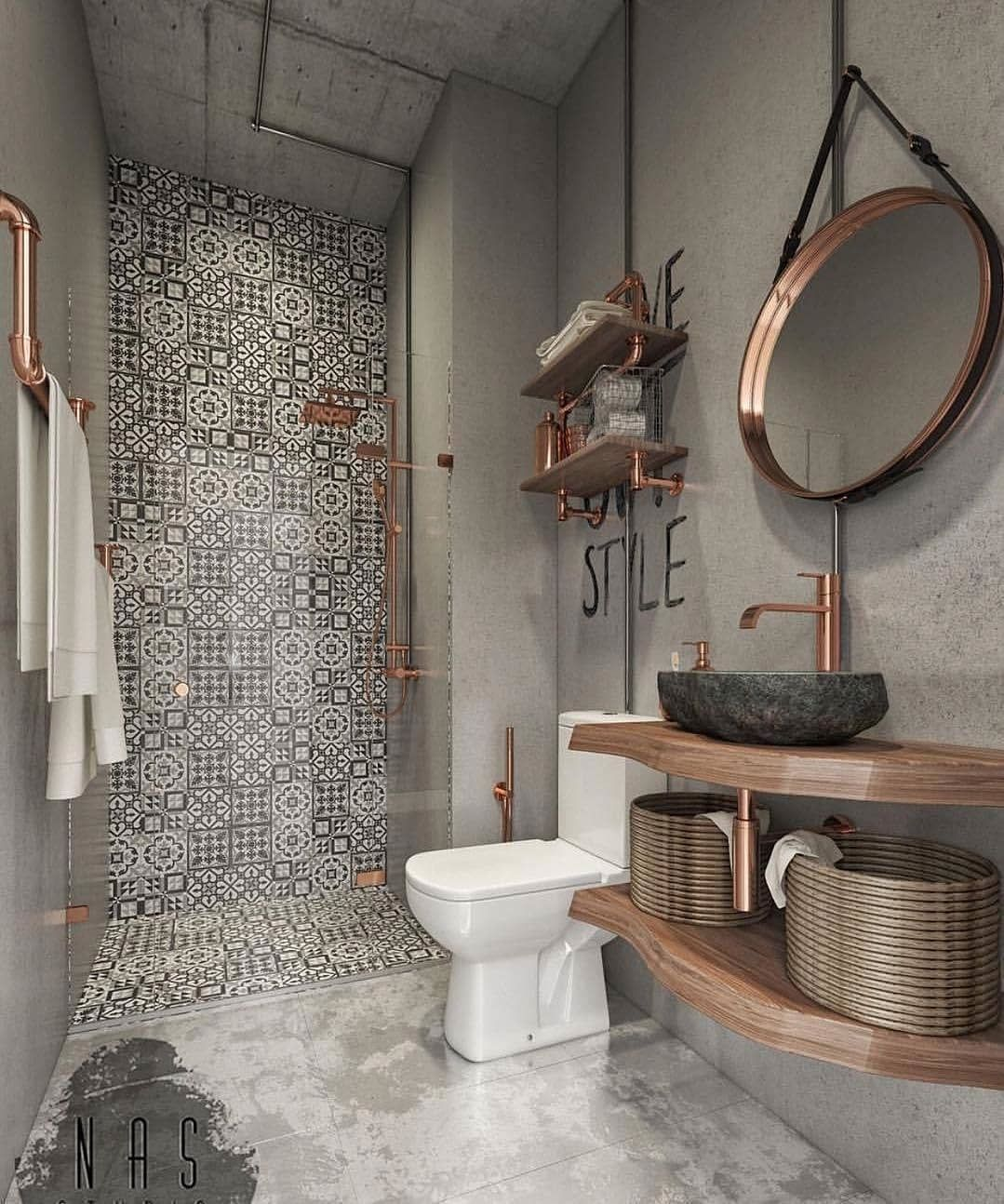 Steampunk Bathroom By Nas Studio Credit Homeadore Homedecorations Hometime Homecare H Badezimmer Inspiration Kleine Badezimmer Badezimmer Gestalten