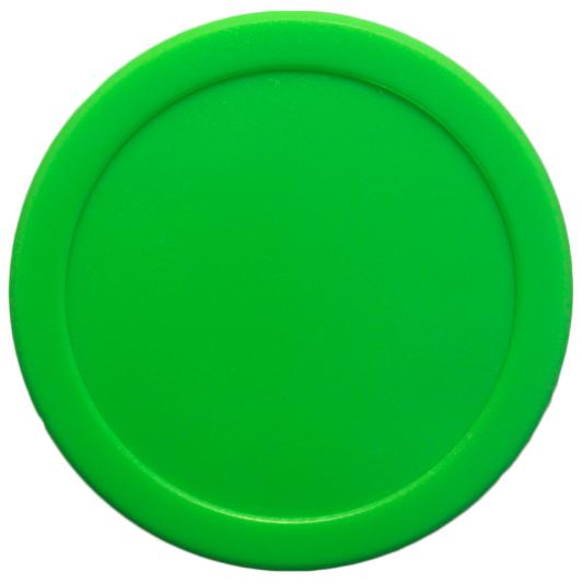 """21/2"""" Small Dynamo Green Air Hockey Puck Hockey puck"""