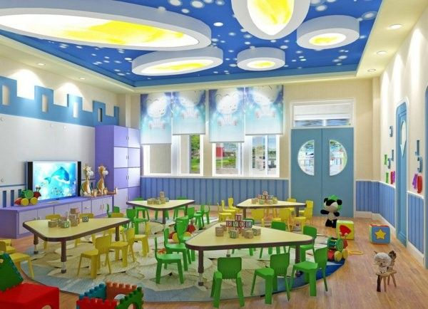 Modern Ideas For Kindergarten Interior Decor10 Blog Kindergarten Interior Daycare Room Design Daycare Design,Single Layer Small Simple Ceiling Design For Bedroom