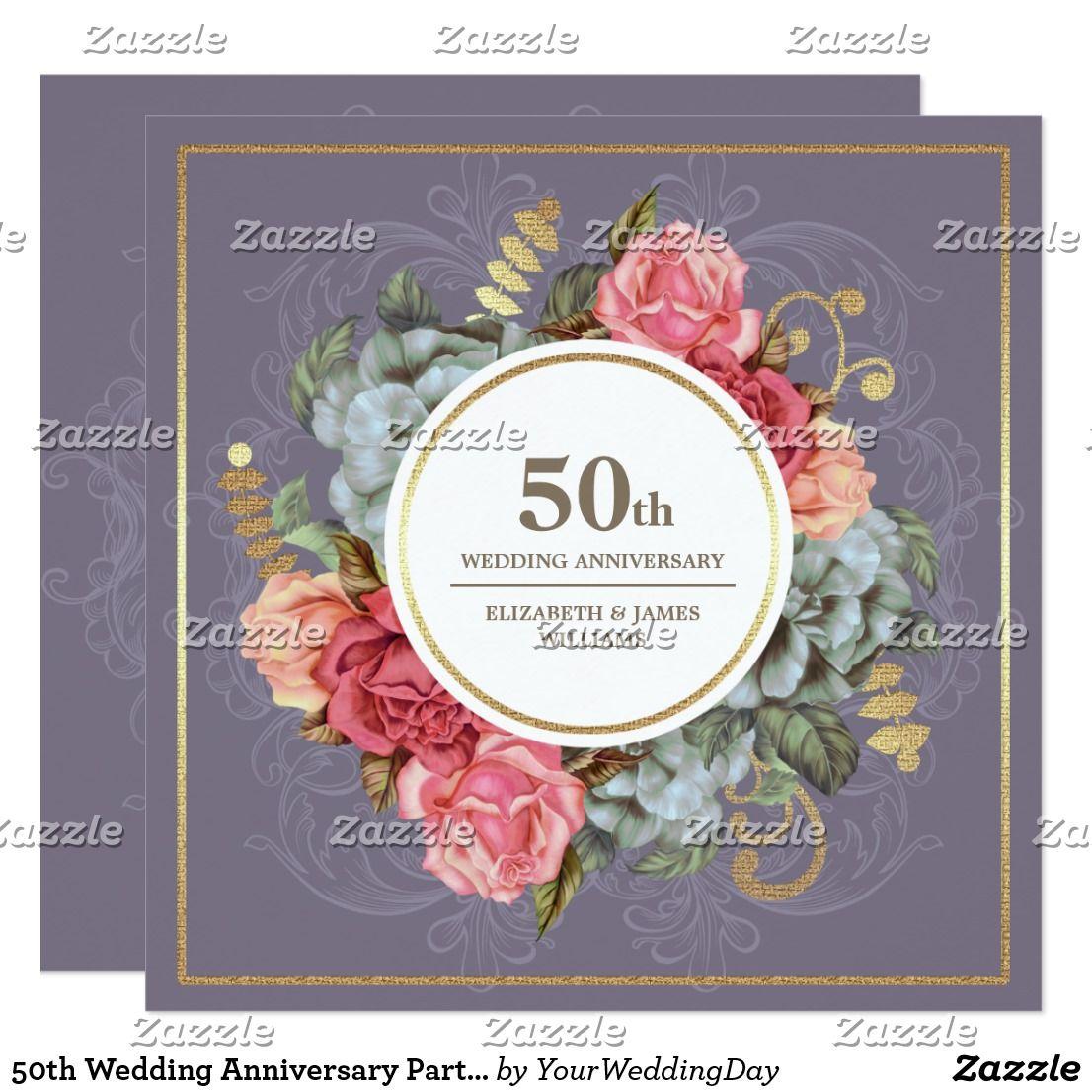 50th Wedding Anniversary Party Invitations Zazzle Com 50th Wedding Anniversary Party 60th Wedding Anniversary Party Wedding Anniversary Party