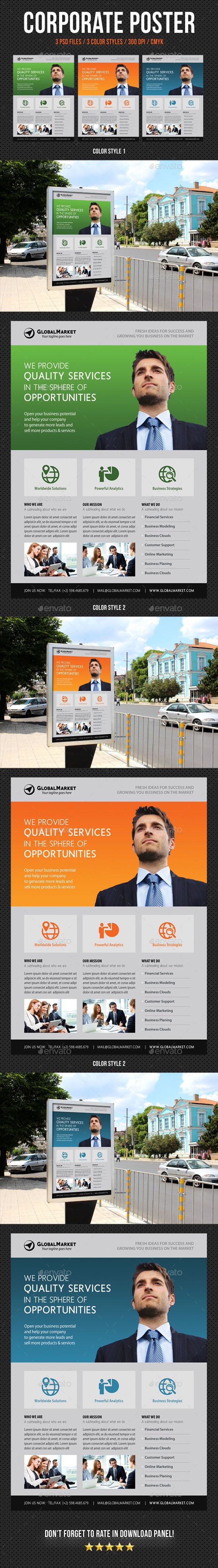 Corporate business poster template v12 business poster corporate corporate business poster template psd friedricerecipe Choice Image
