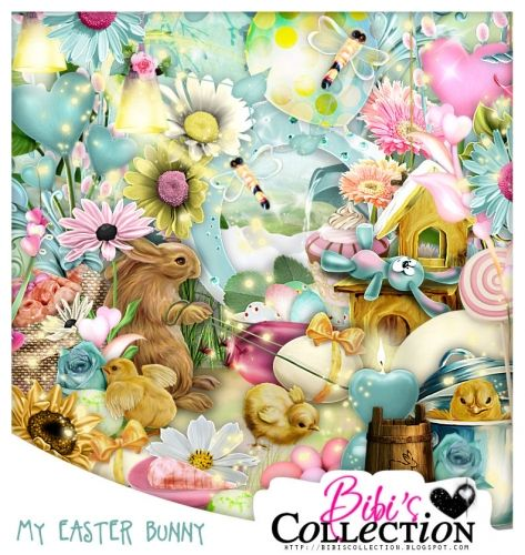 "Kit ""MY EASTER BUNNY"" by Bibi's Collection matching kit to Exclusive Commission tube by LadyMishka ""Bunny 7"" http://scrapsncompany.com/index.php?main_page=product_info&cPath=112_114_168&products_id=18287"
