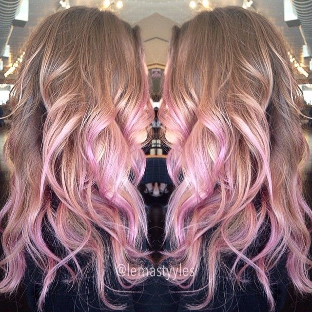 Light Brown With Pink Lowlights Pinterest