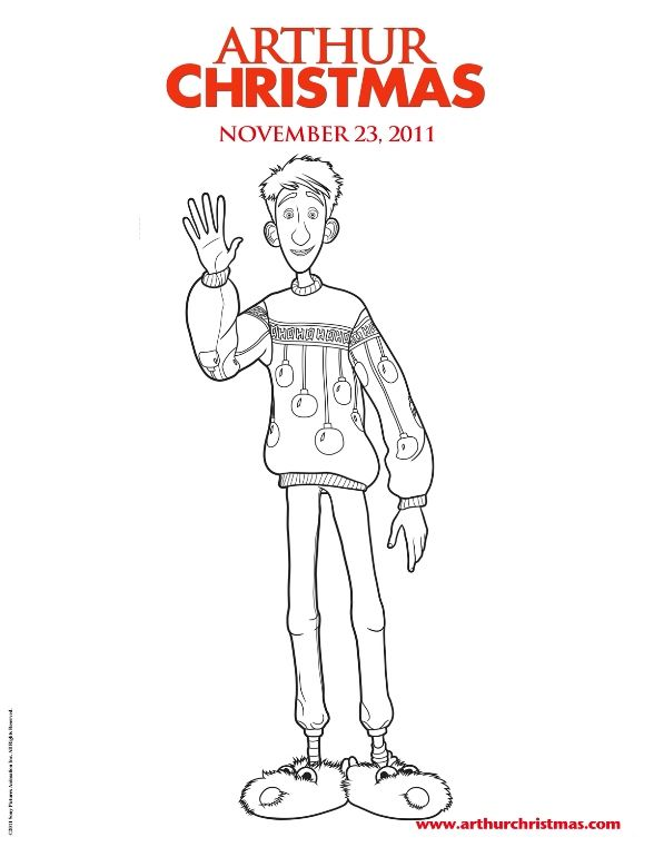 Kids N Fun Coloring Page Arthur Christmas Arthur Christmas Arthur Christmas Christmas Coloring Pages Cool Coloring Pages