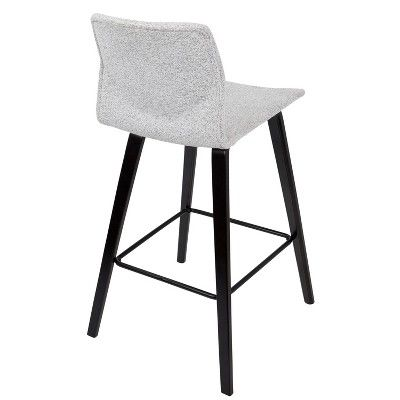 Set Of 2 Cabo Mid Century Modern Counter Stool Gray Lumisource Modern Counter Stools Counter Stools Counter Height Stools