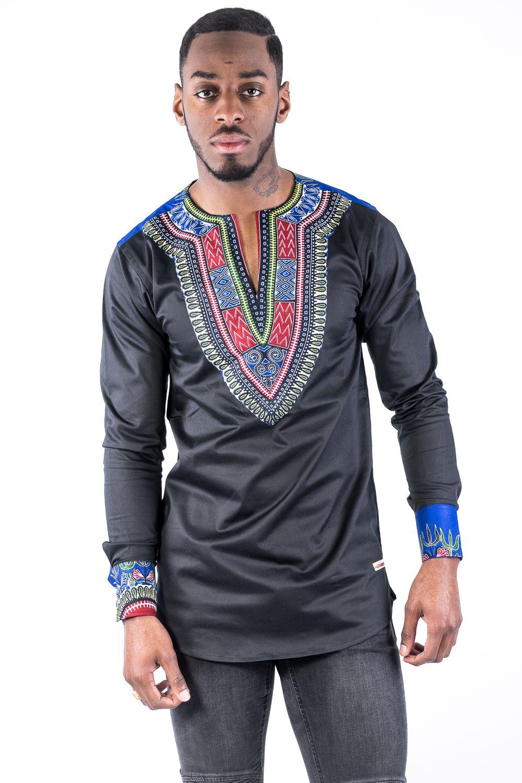 tunique en coton tiss brod e la main id e chemise pinterest tenue africaine. Black Bedroom Furniture Sets. Home Design Ideas
