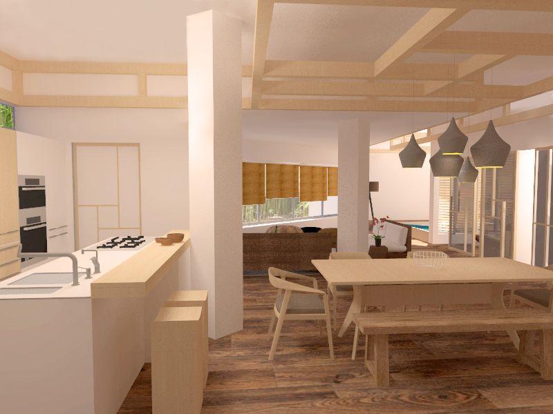 Comedor #cocina #oriental #decoracion via @planreforma #sillas ...