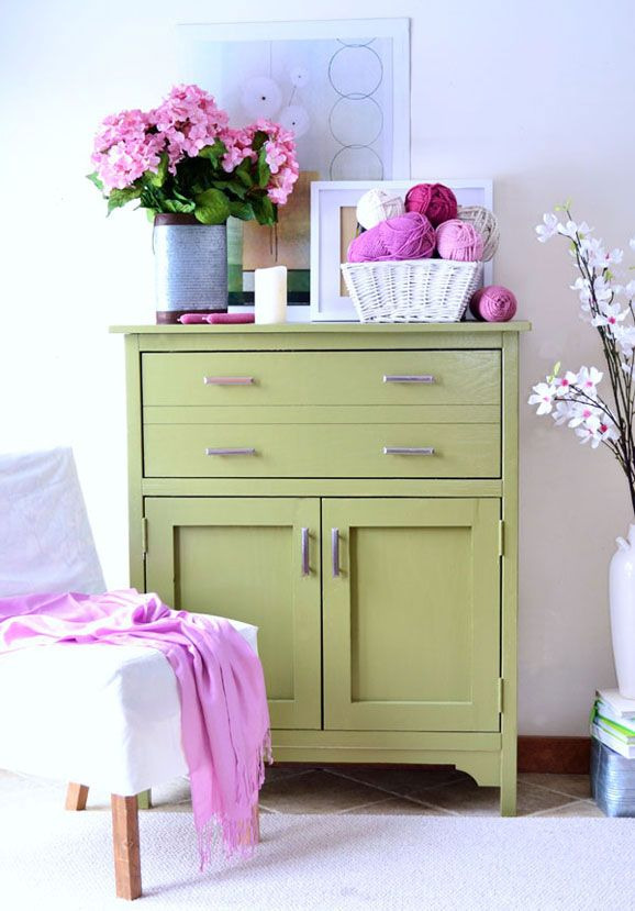 Ana Whites Green Secretary Desk Stands Out Against Neutral Walls Try Our Fresh Dining RoomsDining