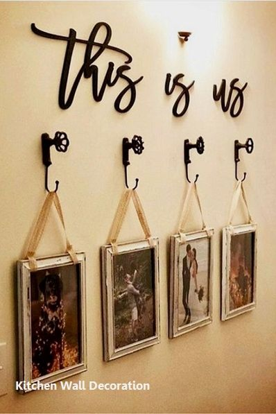 1 Rack And Hook Holder Modern Kitchen Wall Decor Kitchen Wall Decor Diy Gallery Wall