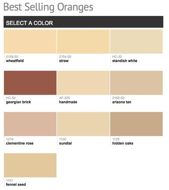 Best Selling Popular Shades Of Orange Paint Colors From Benjamin Moore