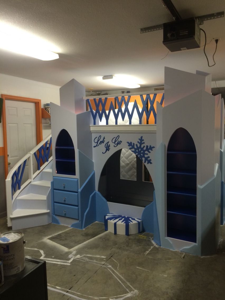 Frozen Theme Bed Frozen Bed Built By Me Can Be Ordered