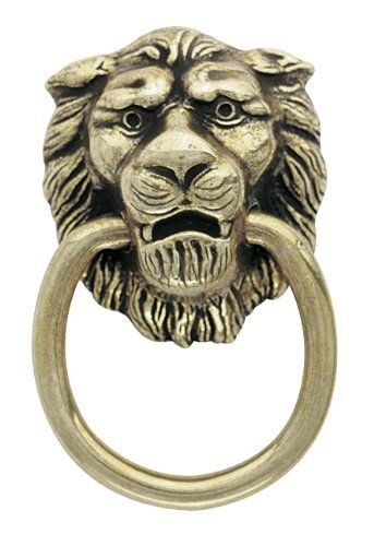 Amerock Traditional Clics Lion Head Ring Pulls Antiqued Br Cabinet And Furniture S