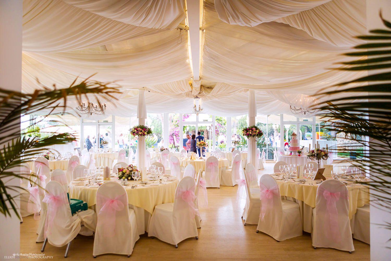 Wedding Reception Setup At Villa Arrigo Naxxar Malta Photo By Elliot Nichol Photography Wedding Floral Wedding Wedding Flowers