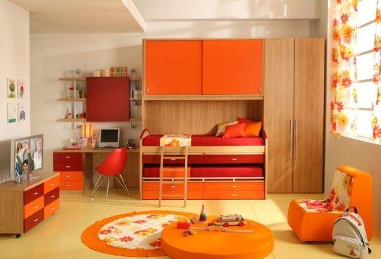 50 Brilliant Boys and Girls Room Designs - Unoxtutti from Giessegi