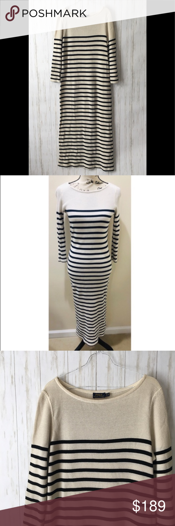 Polo Ralph Lauren Striped Thermal Knit Maxi Dress Maxi Knit Dress Maxi Dress Clothes Design [ 1740 x 580 Pixel ]