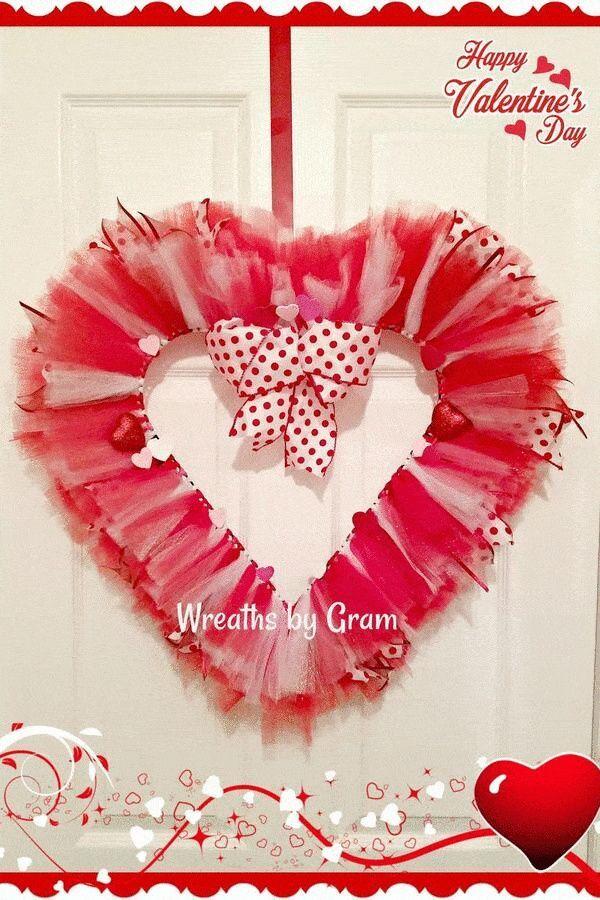 Valentine S Day Wreath Galentines Day Gift Mantel Decor Etsy Valentine Day Wreaths Valentine Decorations Valentine Wreath