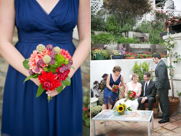 blue and navy bridal party