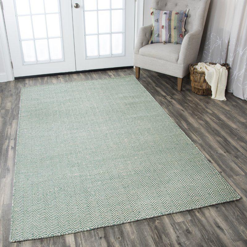Ava Handmade Tufted Wool Green Rug Rizzy Home Chevron Area Rugs Rugs