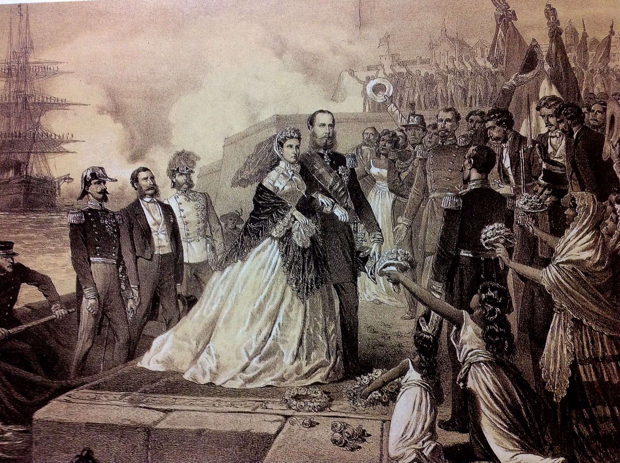 llegada de Maximiliano de Habsgurgo a México