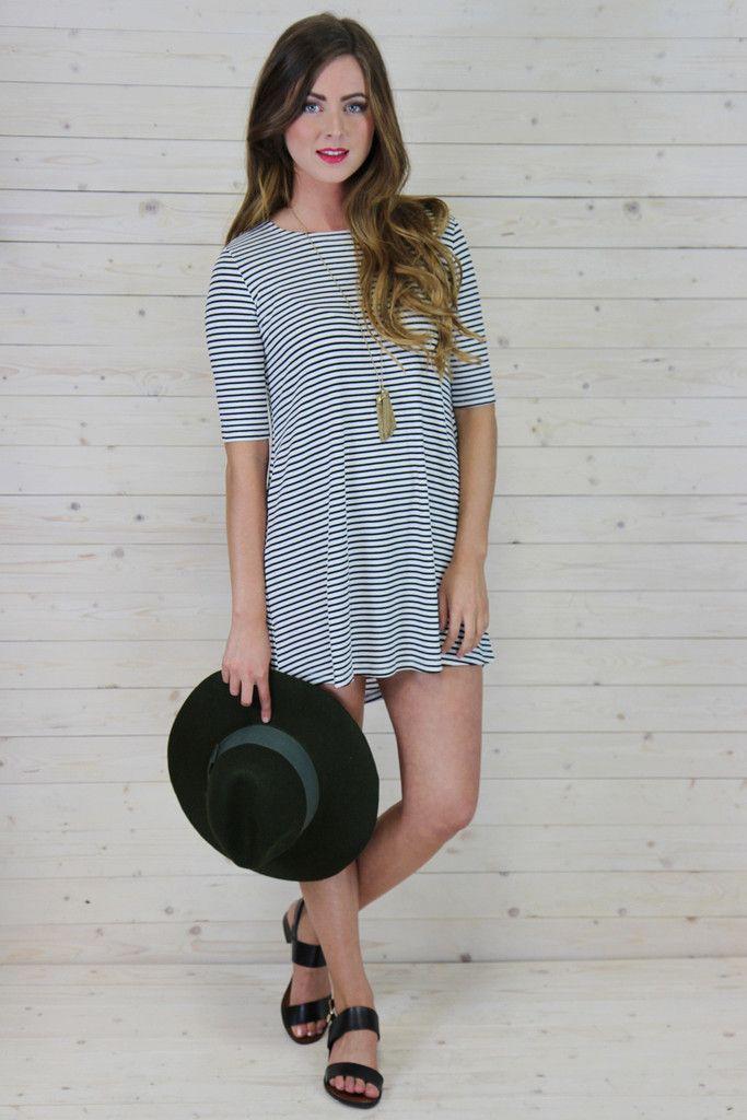Lizzie stripe dress