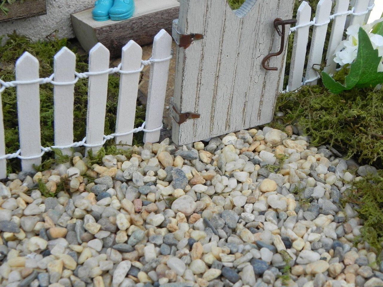 8 Ounces White Pebbles Miniature Dollhouse FAIRY GARDEN Accessories