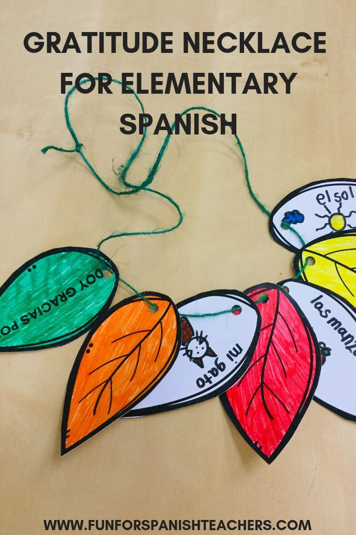 TEACHING GRATITUDE IN AN ELEMENTARY SPANISH CLASS - FunForSpanishTeachers