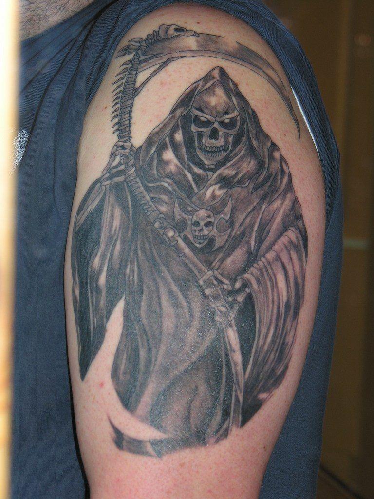 Grim Reaper tattoo Tattoos Reaper tattoo, Grim reaper