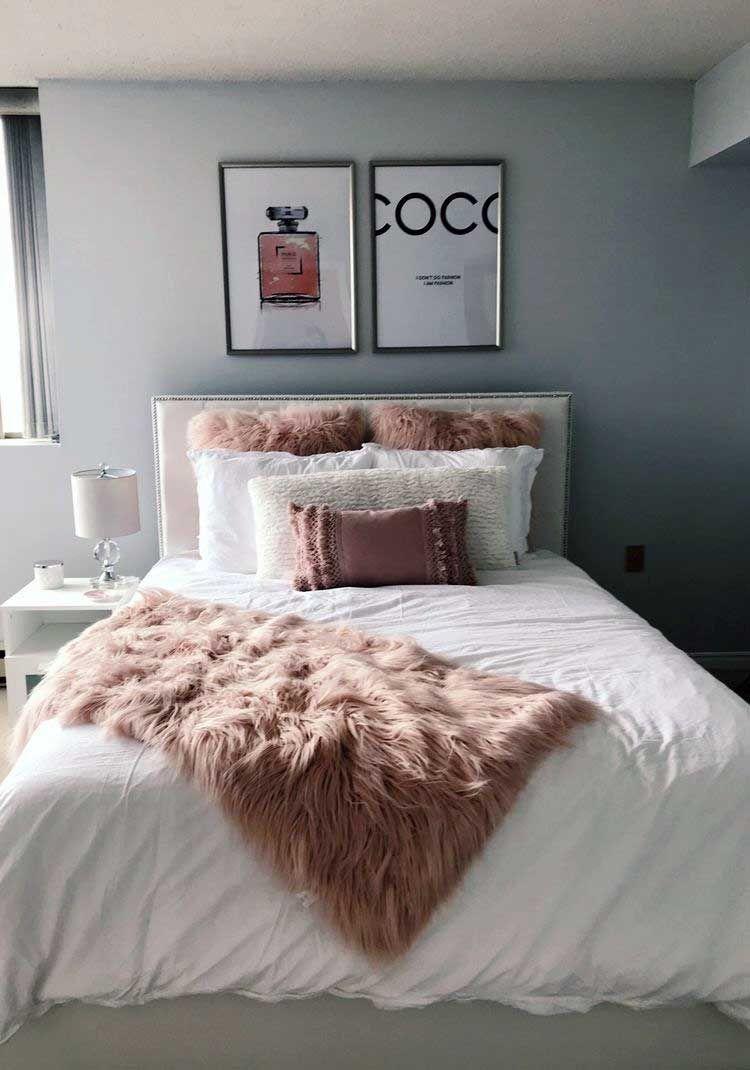 30 Pink Apartment Schlafzimmer Room Decor Ideen, die Sie ausprobieren müssen - AtzeC