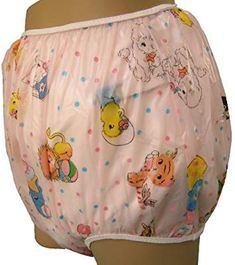Baby Pants Pink Carousel Print Adult Pullon