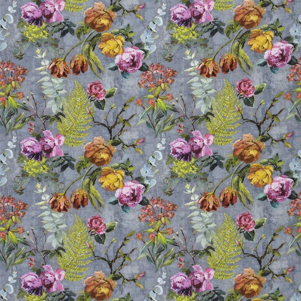 tulipani graphite fabric Designers Guild Designers