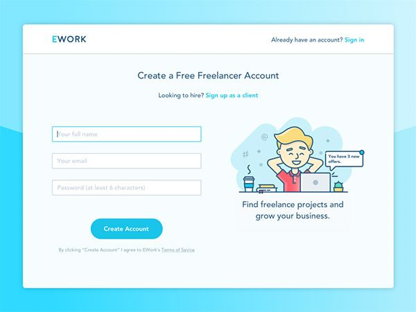 44 Beautiful Sign Up Form Designs With Images Freelancer