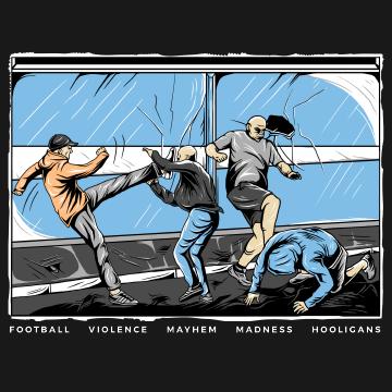 Illustration Hooligans Fight I Work Worldwide For Commission Work Contact Info Musartdesign Com Illustration Hooliga Casual Art Football Design Sneaker Art