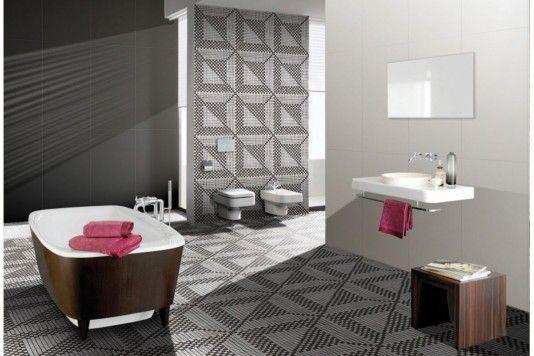 inspiriert von den geometrischen mustern der sizilianischen, Badezimmer