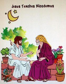 Bible Fun For Kids: Nicodemus (printables) | Teaching Jesus Bible