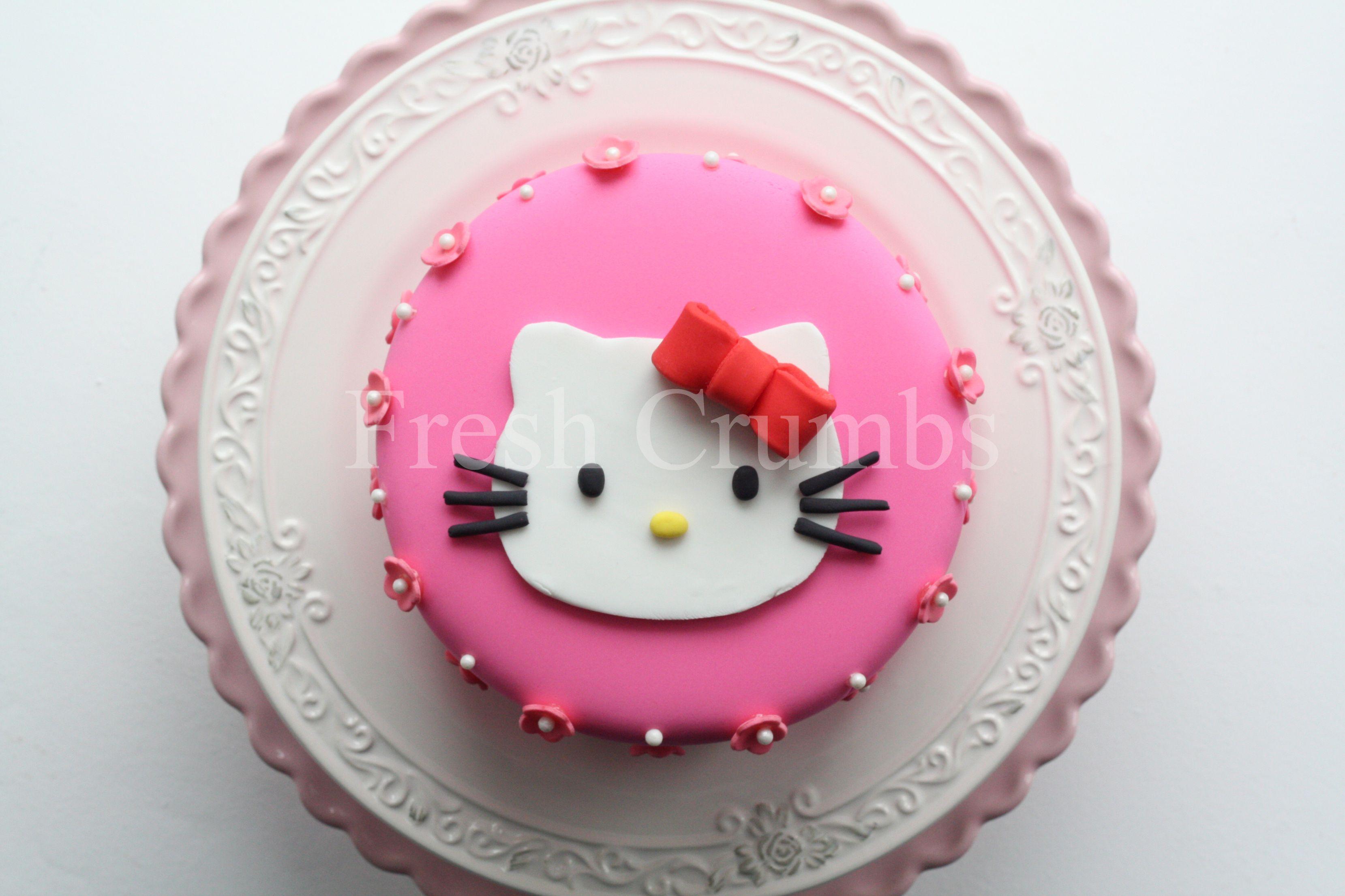 Astonishing Hello Kitty Theme 1St Birthday Madagascar Vanilla Sponge Cake Personalised Birthday Cards Veneteletsinfo