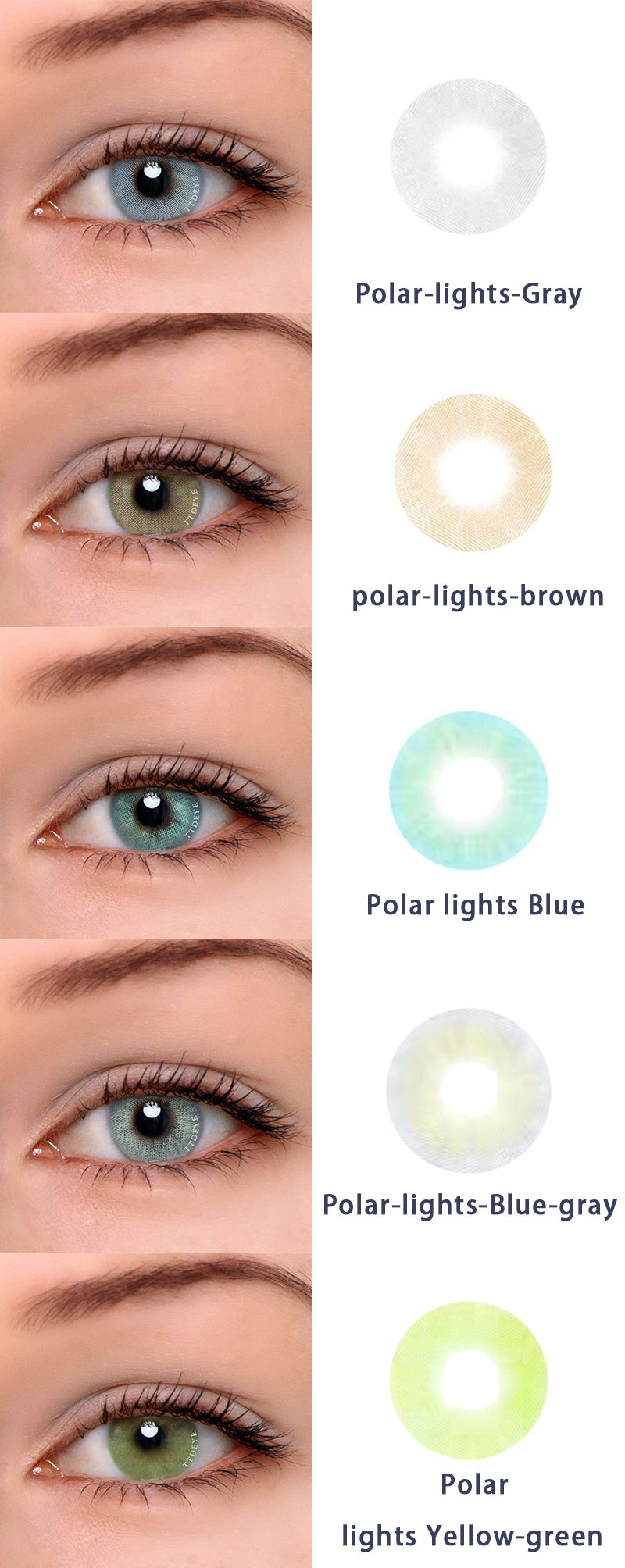 dee1479817 Green Colored Contacts · Lenses Eye · ttdeye.com Hot sale series-Polar  lights. They are polar-lights gray