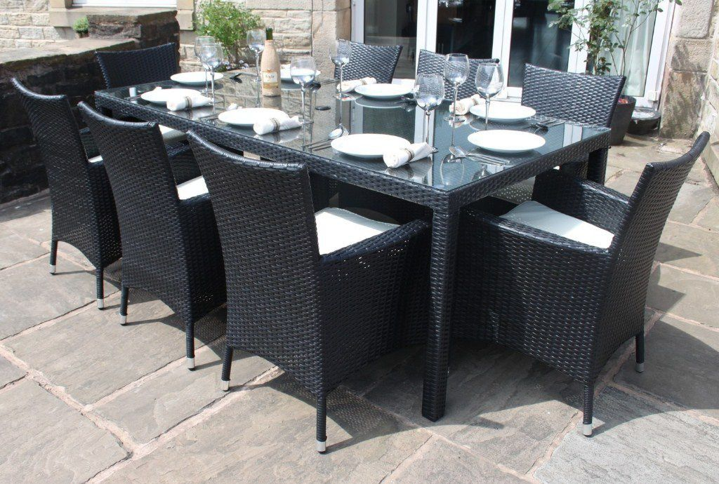 Stonecrete Direct - Black Rattan Outdoor 8 Seater Garden Furniture Dining  Set - Quality Stone and Concrete Products - The Benefits Of Outdoor Rattan Furniture Rattan Furniture And Rattan