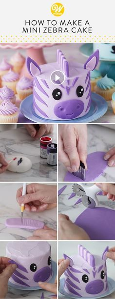 Photo of How to Make a Mini Zebra Cake | Wilton
