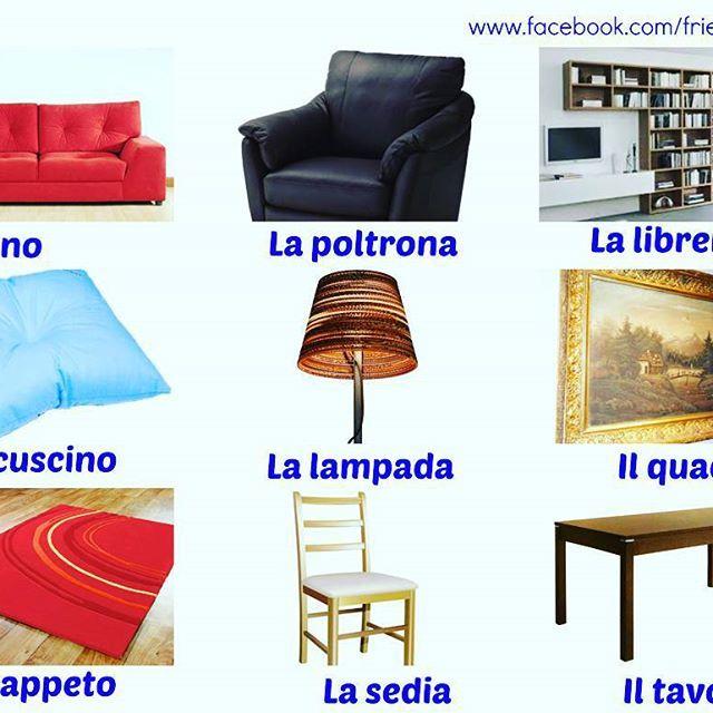 Living Room Furniture Vocabulary vocabulary for the living room #verbs #vocabulary #italian