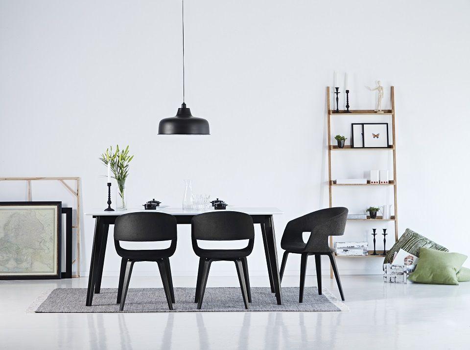Tavolo industrio ~ Composizione tavolo da pranzo century sedie nova e libreria wall