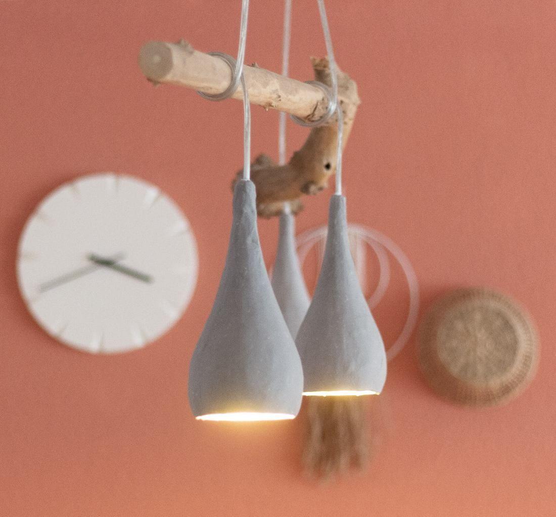 Esszimmer Lampe Holzstamm